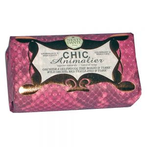 250g Fine Natural soap Chic Animalier RED
