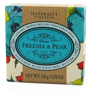 Triple milled Fresia & pear soap 150g.