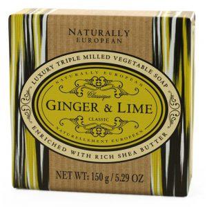 Triple milled soap Ginger lime 150g.