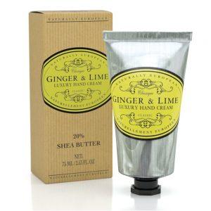 Luxury hand cream ginger lime 75ml.