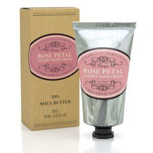 Luxury hand cream rose petal 75ml.