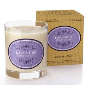 Naturlig luksus duftlys Lavendel 200g