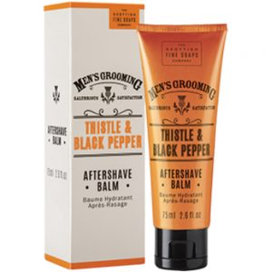After shave balm 75ml Thistle & black pepper