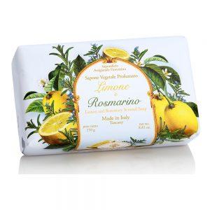 Vegetabilsk sæbe citron & rosmarin 250g