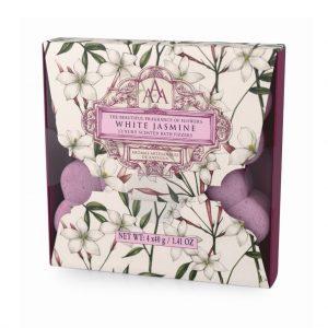 Bath Fizzer 4 x30g i æske white jasmin