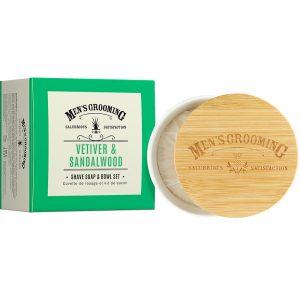 Barber sæbe & skål 100g Vetiver & Sandelwood