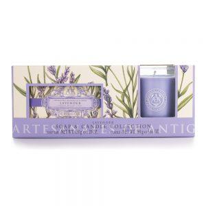 Håndsæbe og duftlys sæt Lavendel