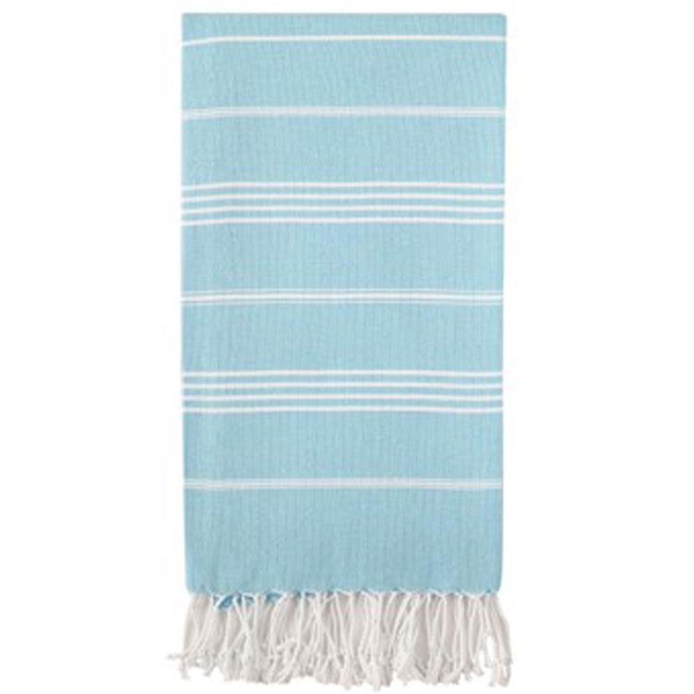 Hammam håndklæde recycled cotton himmel blå