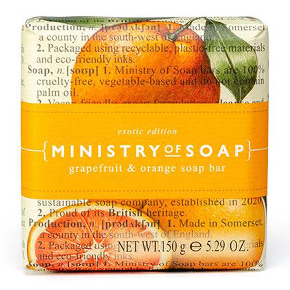 Triple milled soap Grapefrugt & Orange 150g